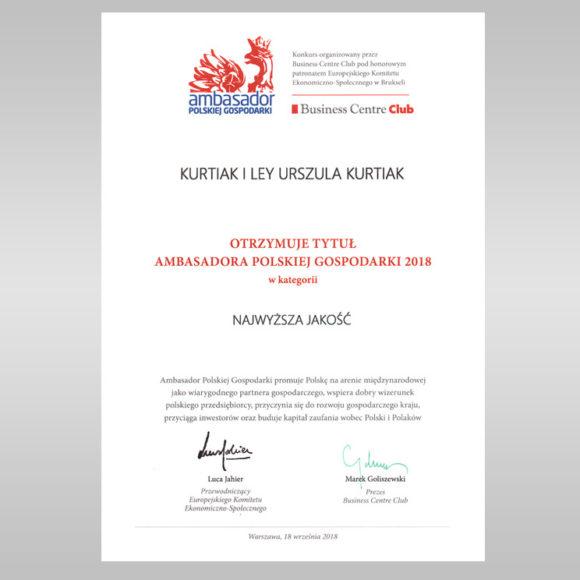 Tytuł Ambasadora Polskiej Gospodarki