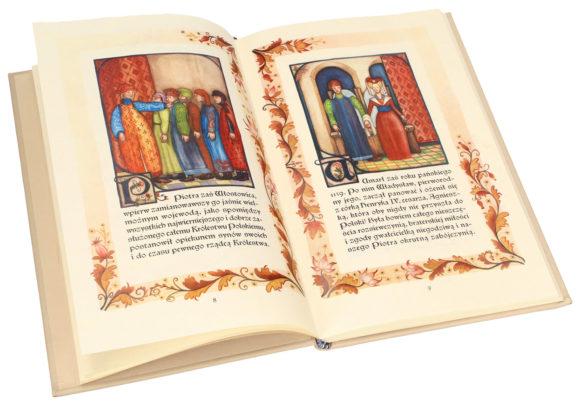 Bogato zdobione strony Kroniki o Piotrze Włostowicu