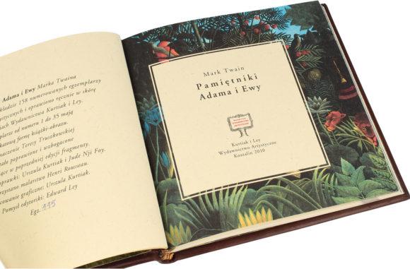 Artystyczna książka Twaina Marka, Pamiętniki Adama i Ewy