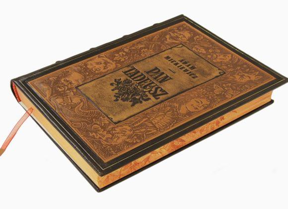 Książka Mickiewicza Adama, Pan Tadeusz w skórzanej oprawie